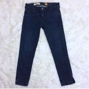 Pilcro Anthropologie 26 skinny jeans dark wash